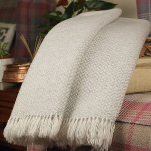 Other - NWOT Cashmere Blanket/Throw